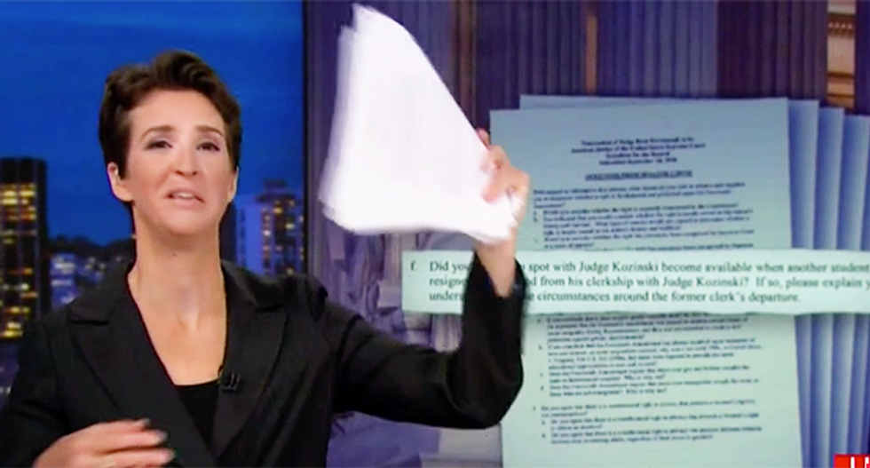MSNBC's Rachel Maddow reveals how Brett Kavanaugh and the GOP are still trying to trick the public about his beliefs