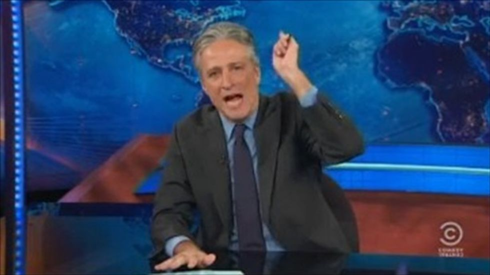 Jon Stewart destroys Fox News' 'Bull*hit Mountain' coverage of the government shutdown