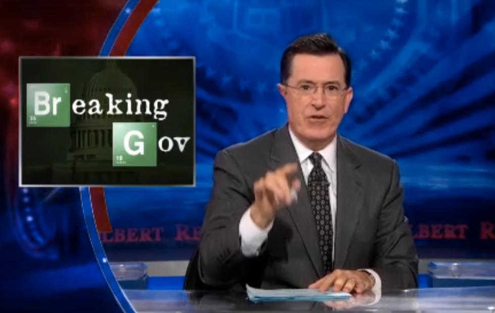 Colbert recaps series finale of U.S. government in 'Breaking Gov'