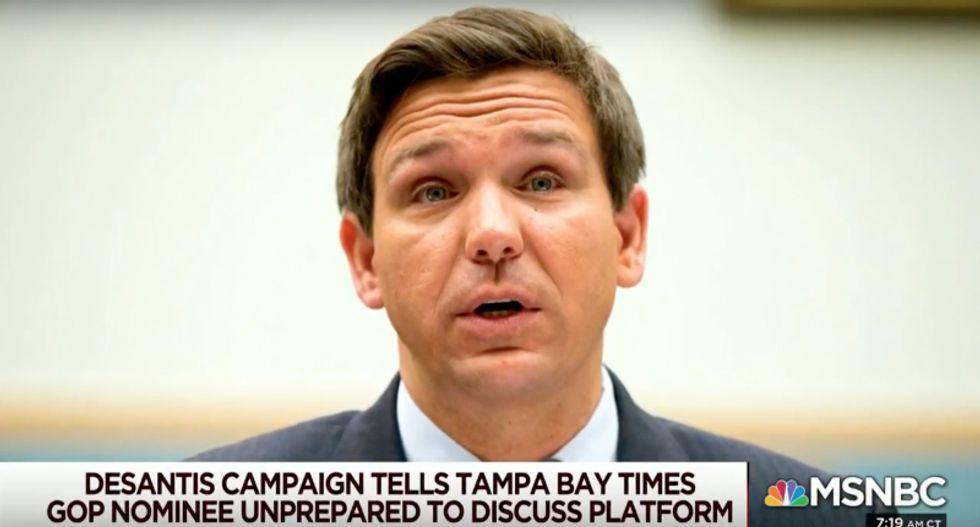 MSNBC's Joe and Mika ruthlessly mock Florida Republican DeSantis for not even having a campaign platform