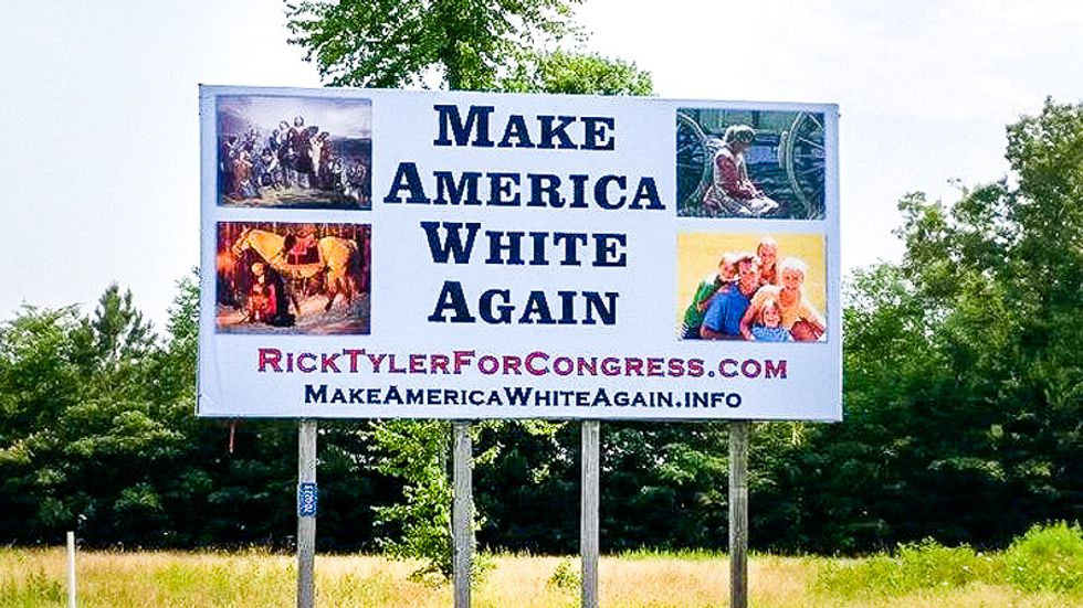 'Make America White Again': Tennessee candidate faces boycott over Trump-inspired racist billboard