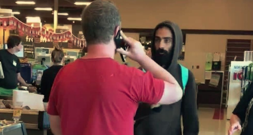 Watch a white guy attempt a 'citizen's arrest' on darker-skinned man he thinks is an 'illegal alien'
