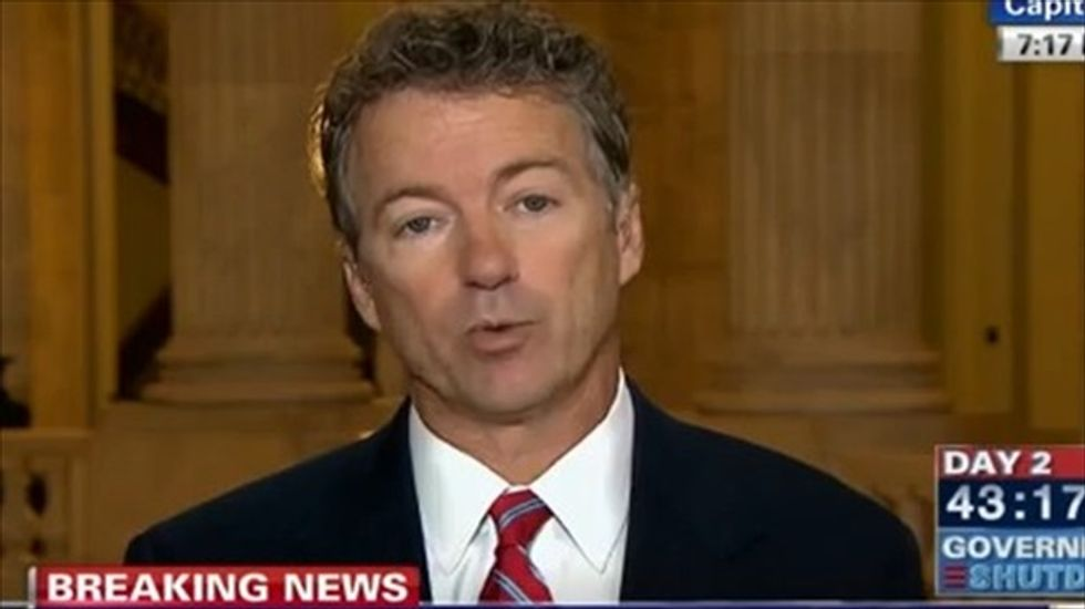 Rand Paul accuses Democrats of 'scaring people' over debt ceiling