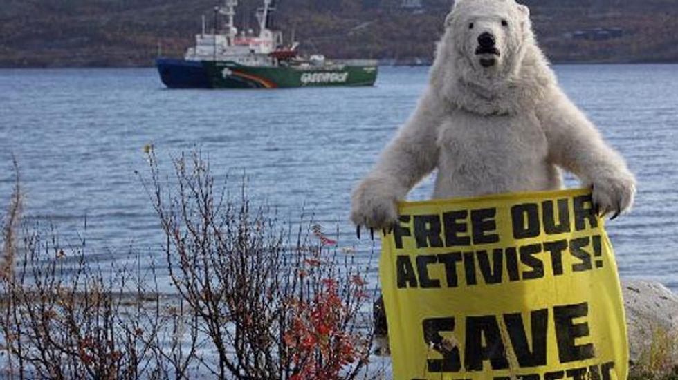 Nobel laureates urge Putin to drop 'excessive charges' against Greenpeace activists