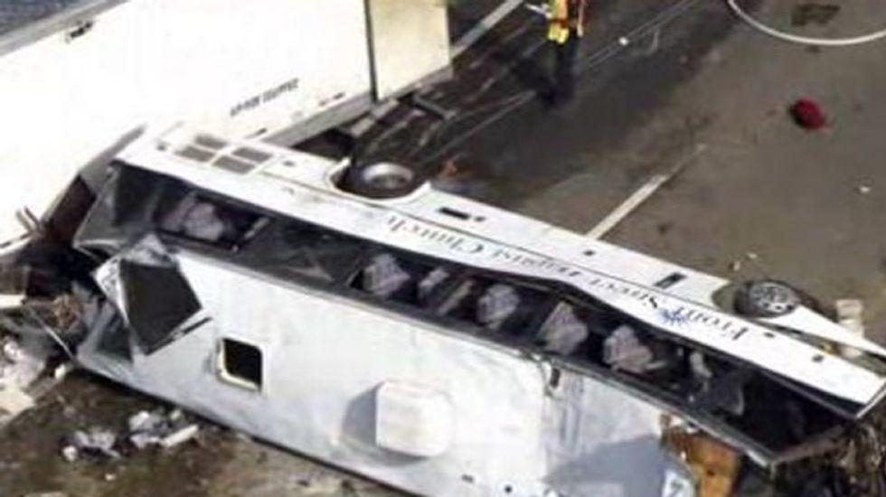 Gov. shutdown stops NTSB investigation into bus crash that killed eight