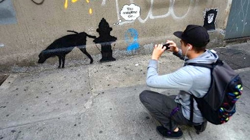 Street artist Banksy excites New Yorkers with month-long graffiti blitz