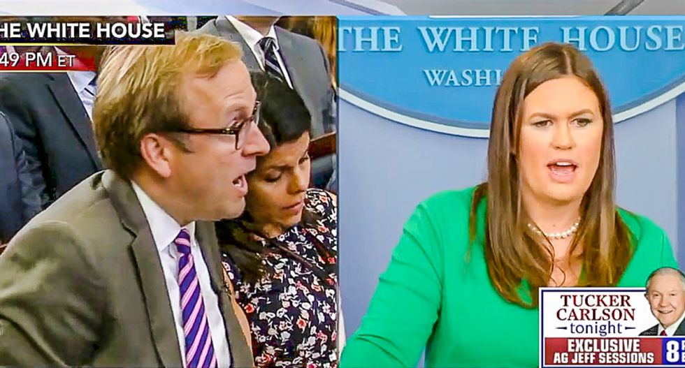 'The president hires all the best people': Sarah Sanders bizarrely defends Trump's attacks on his own staff