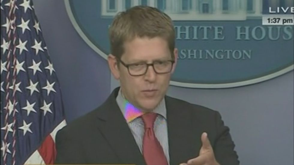 Jay Carney smacks down ABC's Jonathan Karl: 'I'm sure you'll represent' GOP talking points