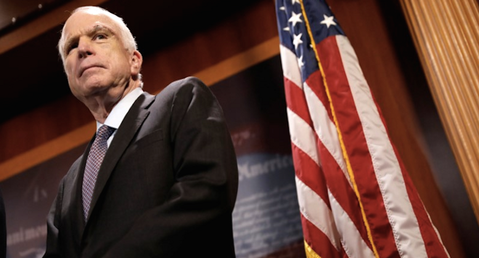 WATCH: John McCain gives emphatic thumbs down to crush GOP push to gut Obamacare