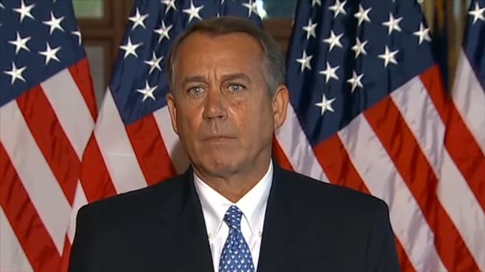 John Boehner accuses Obama of asking for 'unconditional surrender by Republicans'