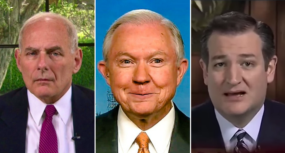 Here's how General Kelly and Ted Cruz just might save Sessions' -- and Trump's -- butt