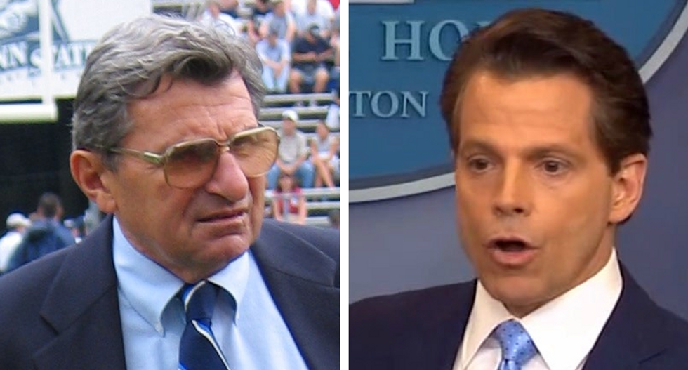 Scaramucci has been praising Joe Paterno from White House to hype tribute movie he's producing