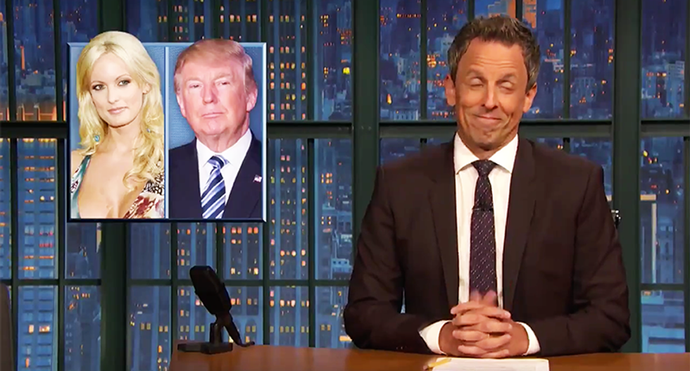 Seth Meyers swears that his mind isn't in the gutter: 'That's just the f*cking news right now'