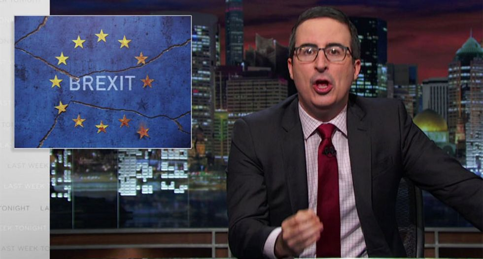 John Oliver uses Brexit as cautionary tale against electing Trump: 'There are no f*cking do-overs'