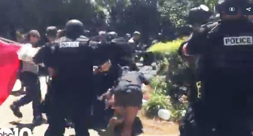 WATCH: Multiple stabbings reported as Sacramento police break up violent neo-Nazi rally