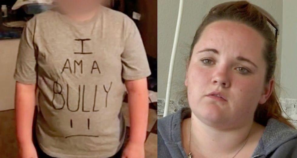 Texas bully's mom shames him by making him wear 'I Am a Bully' shirt to school