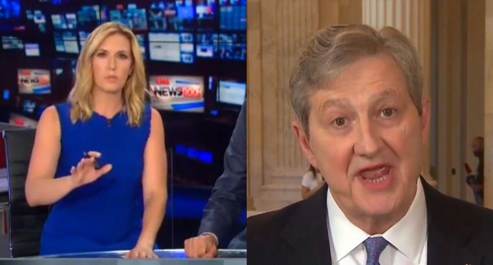 GOP senator snaps at CNN host for grilling him about investigation into Kavanaugh assault allegations