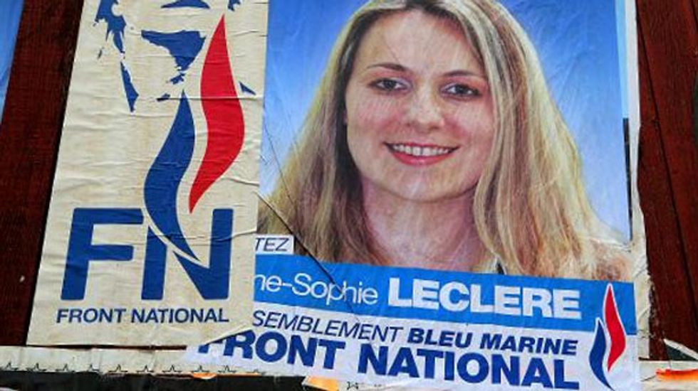 France's far-right National Front projected  to win European parliament elections in France