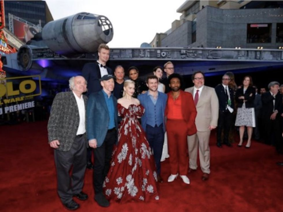 Star Wars spaceship lands at Disney's 'Solo' premiere in Hollywood