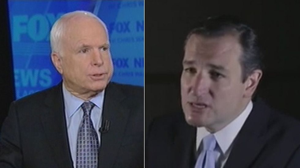 McCain seeks united Republican front against Obamacare as Cruz fights on