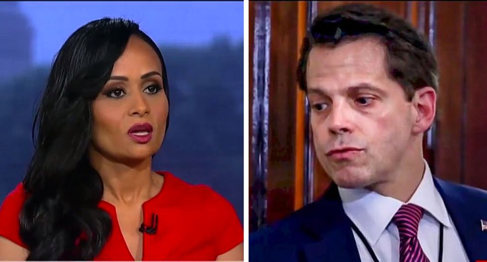 Scaramucci secretly dined with Katrina Pierson at Trump Hotel hours after firing announced