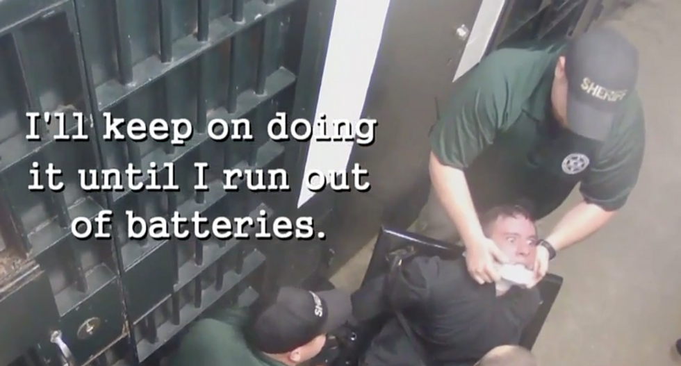 WATCH: Tennessee deputies tortured 19-year-old inmate with Tasers while he was strapped to a chair