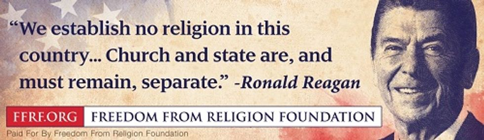 Freedom from Religion Foundation billboard (Photo via FFRF)