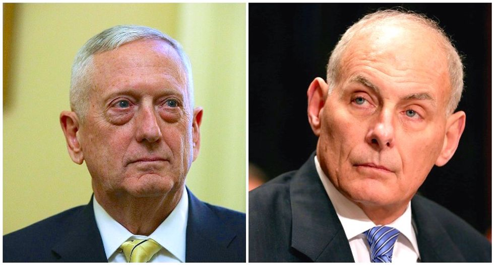 Retired generals serving under Trump made pact to never leave president alone to make his own decisions