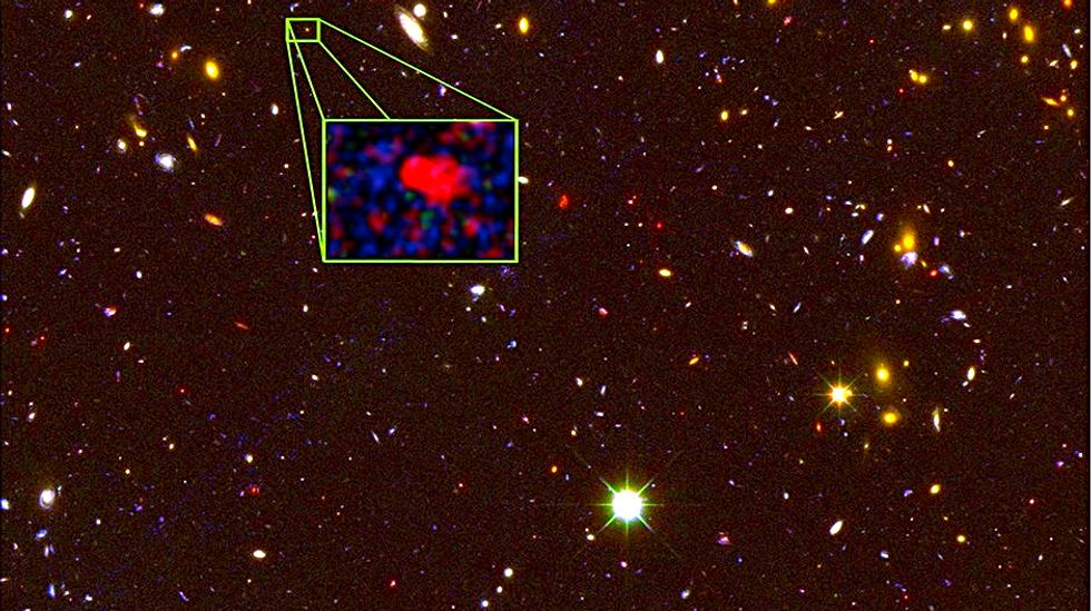 Most distant galaxy ever discovered was a prolific star factory