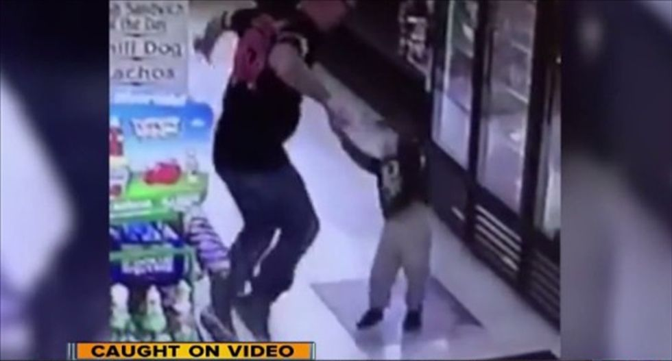 Calif. man held on $1 million bail after security camera catches him punching toddler in the face