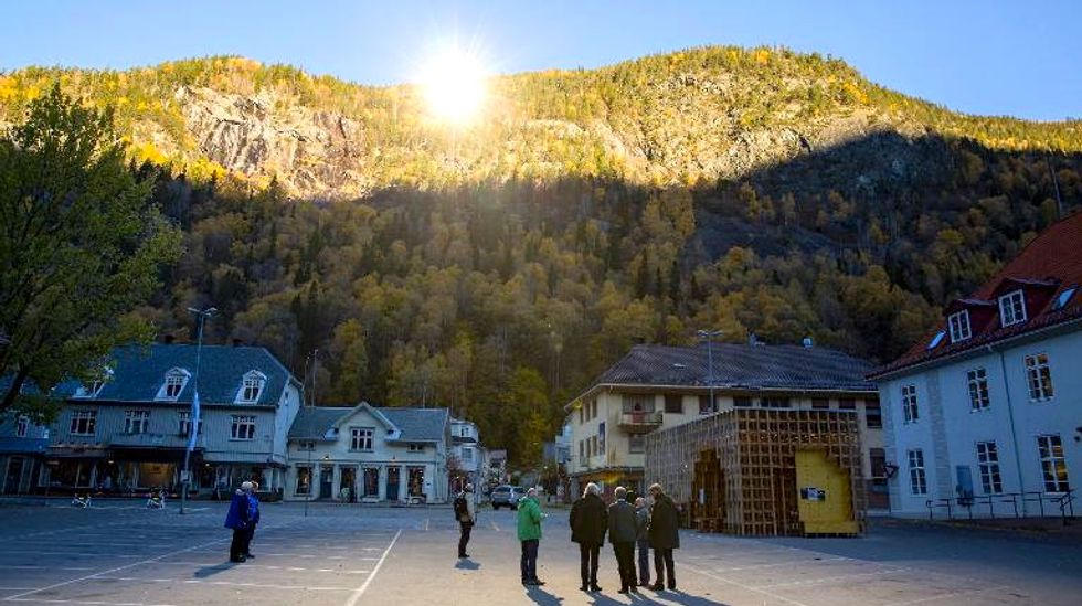Giant mirrors bring winter sun to Norwegian village for the first time in its history
