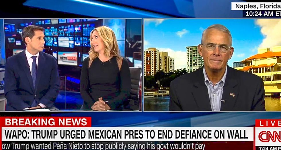 GOPer baffles CNN hosts by denying Trump campaign promise: 'The wall is a metaphor for border security'