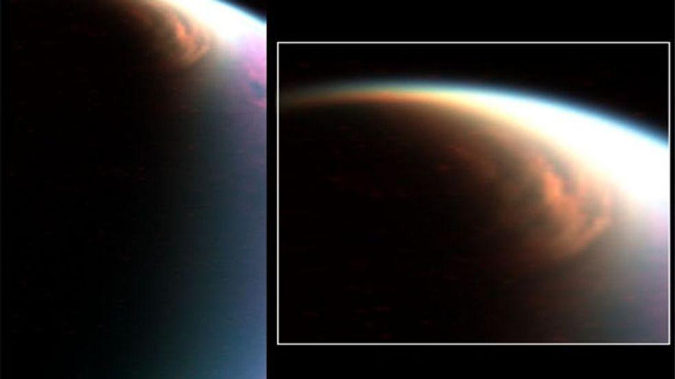 The North pole of Saturn's moon Titan looks like Utah's Bonneville Salt Flats