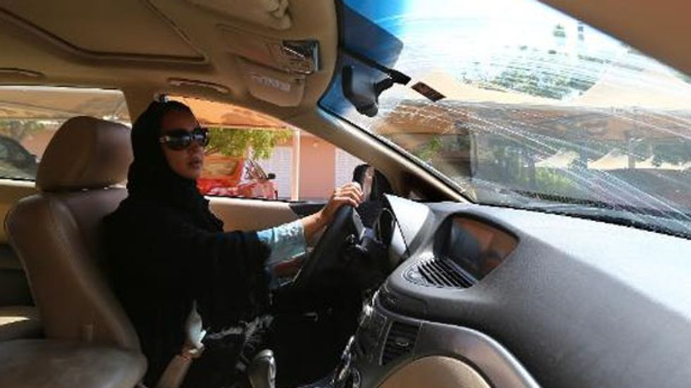 Dozens of Saudi Arabian women participate in protest against country's ban on women drivers