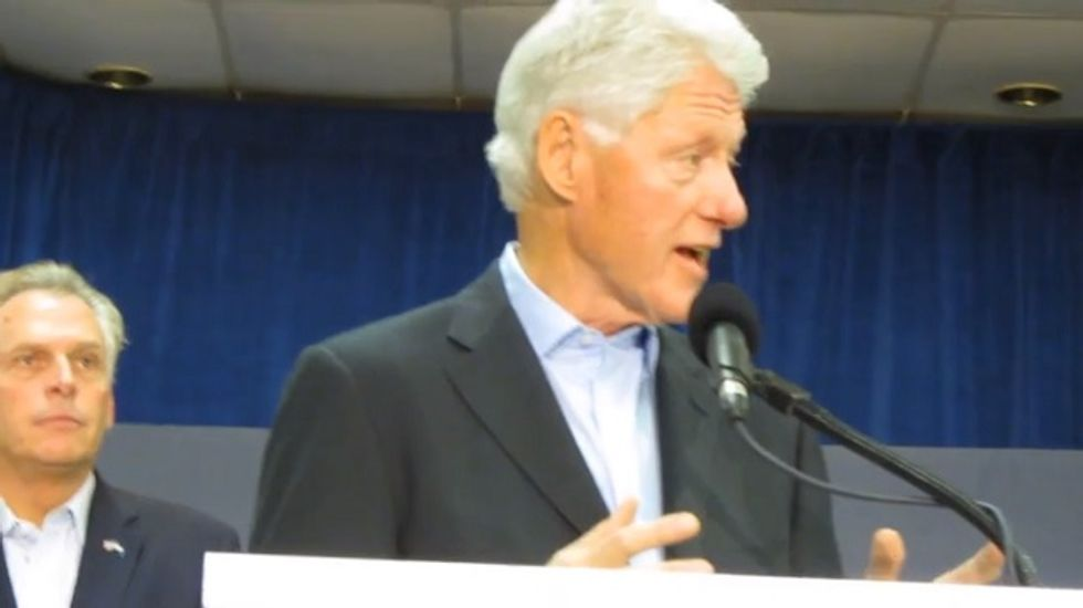 Bill Clinton makes hard pitch for Terry McAuliffe in Virginia governor's race