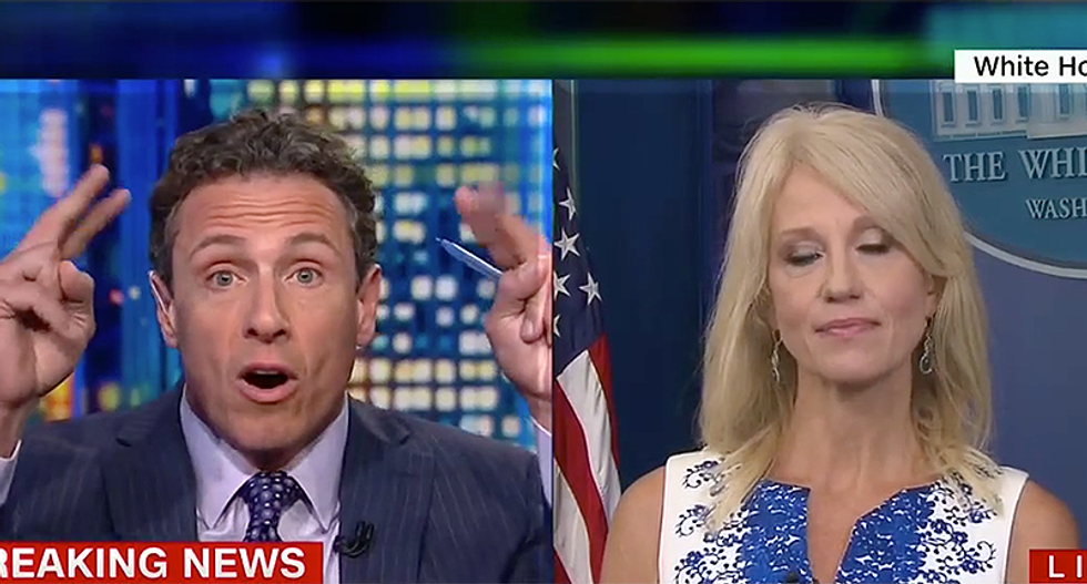 WATCH: CNN's Cuomo aghast after Kellyanne Conway says Russian interference is not 'an issue of national security'