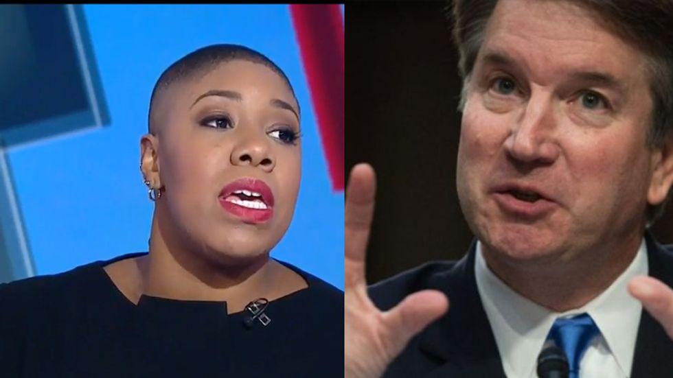 'He's in trouble': CNN's Symone Sanders nails Brett Kavanaugh's Fox News appearance