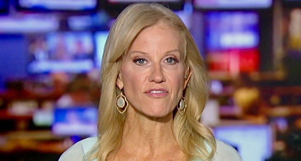 Kellyanne Conway alleges 'vast leftwing conspiracy' involving Hollywood is 'in cahoots' to get Kavanaugh