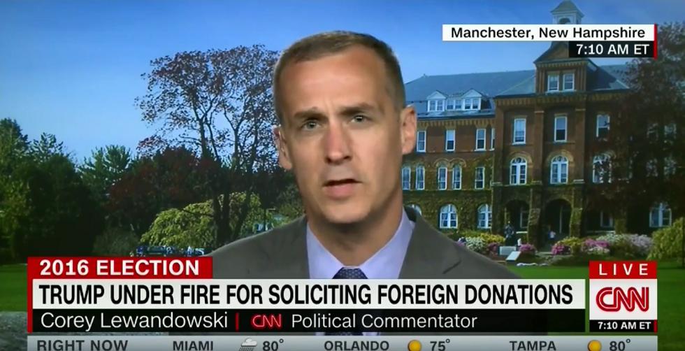 Latest FEC filings reveal that Trump paid CNN's Lewandowski $20K in July