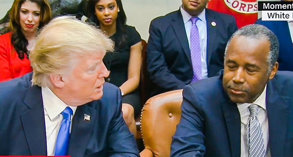 Trump once asked a room full of black leaders if they knew Ben Carson -- and was surprised when they said no: report