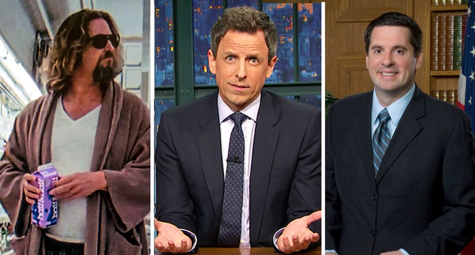 Seth Meyers reveals hilarious similarity between 'The Dude' and Trump: They both love white Russians