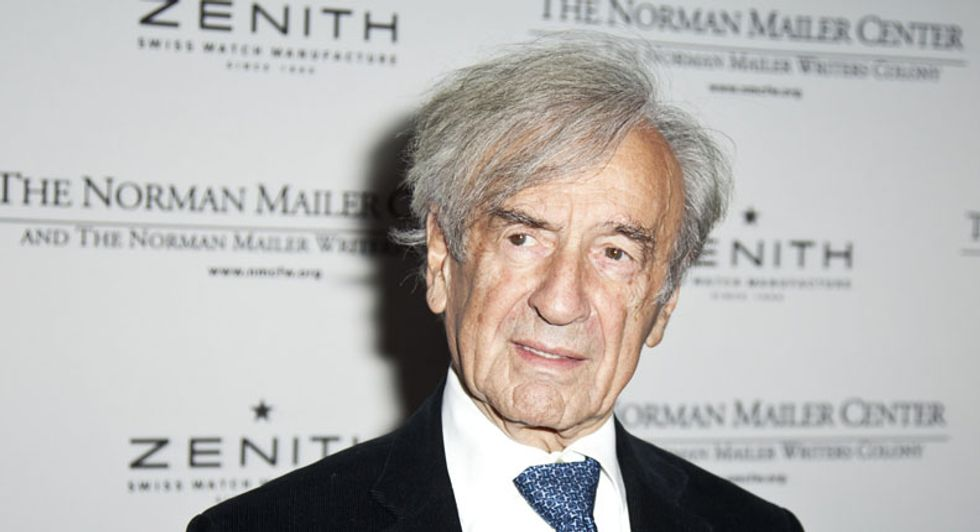 Scientist claims sex assault by Elie Wiesel at charity event in 1980s