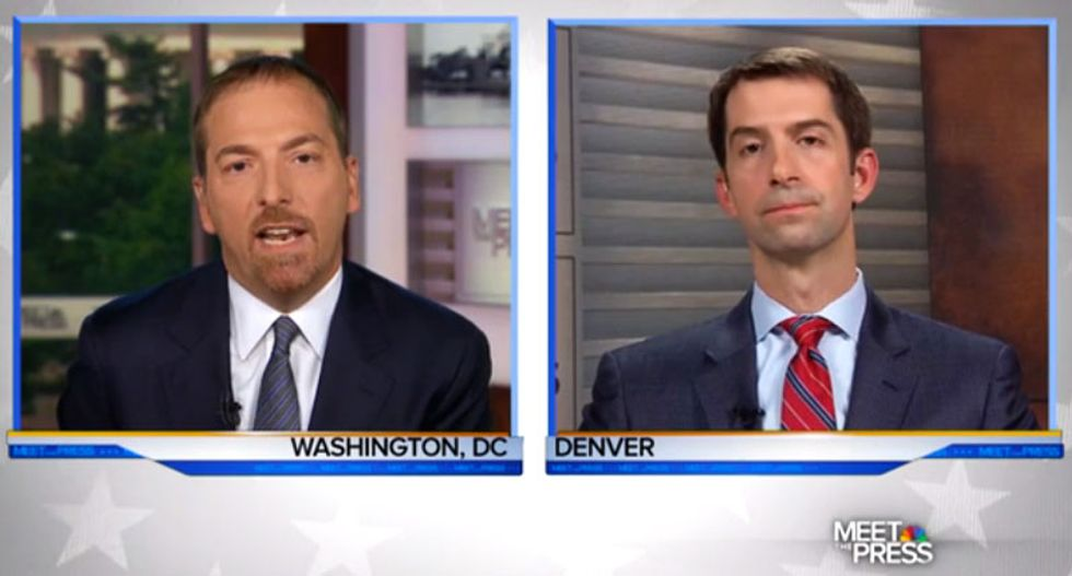 WATCH: Chuck Todd batters Tom Cotton for repeatedly refusing to make a case for a Trump presidency
