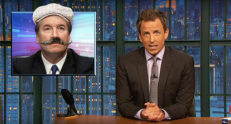 Seth Meyers mocks Kavanaugh for lying so much 'I'm expecting him to leave the hearing and come back with a mustache'