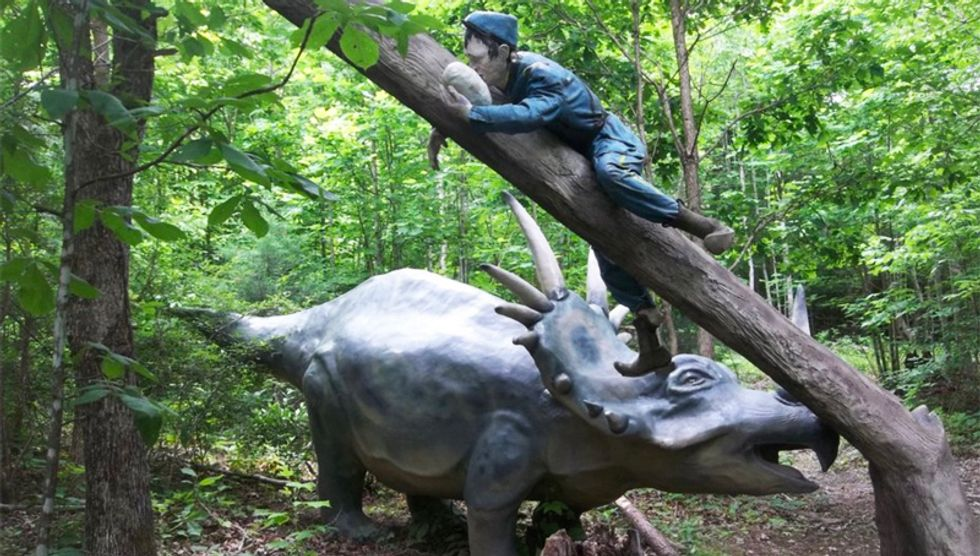 Virginia theme park depicting dinosaurs fighting in the Civil War delays opening because of COVID-19