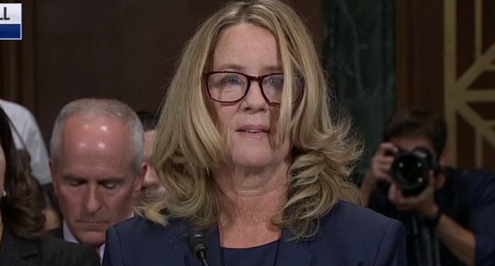 WATCH: 'Terrified' Christine Blasey Ford fights back tears as she testifies against Brett Kavanaugh out of 'civic duty'