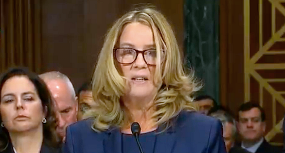 The internet rallies around tearful Christine Ford: 'I can see the traumatized girl in her eyes and it breaks my heart'