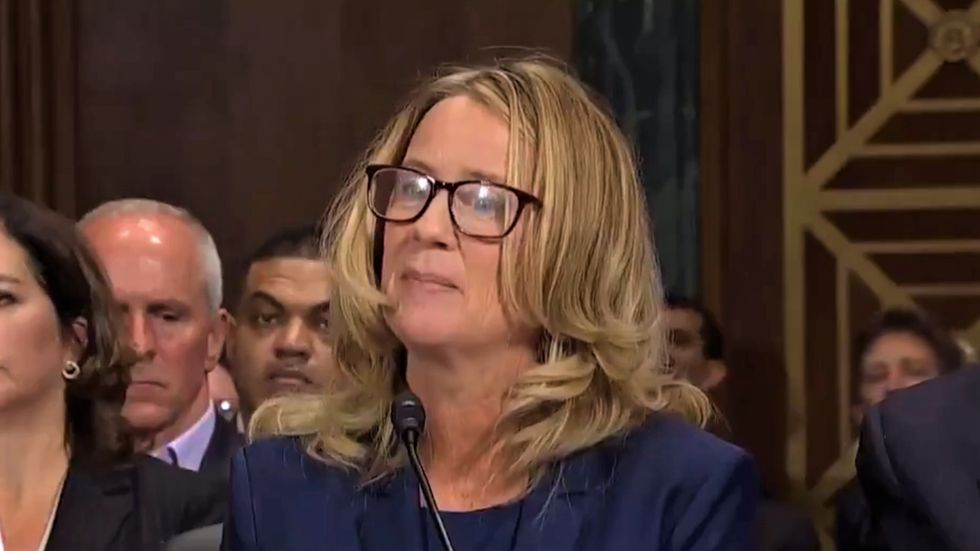 Christine Blasey Ford recounts 'uproarious laughter' of Brett Kavanaugh and Mark Judge as they assaulted her