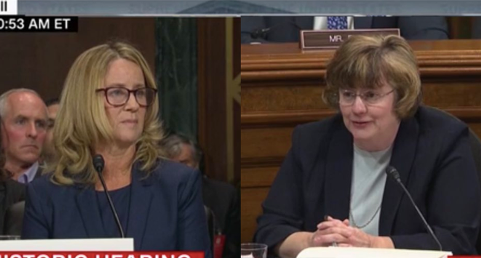 GOP's secret weapon Rachel Mitchell goes down in flames trying to cross-examine Ford in 5-minute chunks