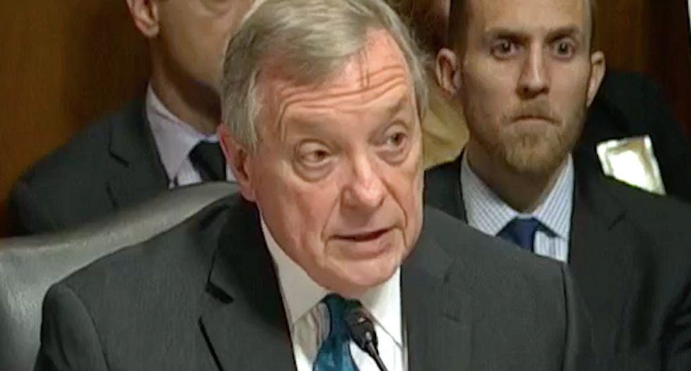WATCH: Dick Durbin blisters Kavanaugh and his GOP accomplices during Ford testimony